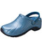 Photograph of Medical Footwear Unisex Anywear Injected Clog w/Backstrap Caribbean Chrome ZONE-CBCH