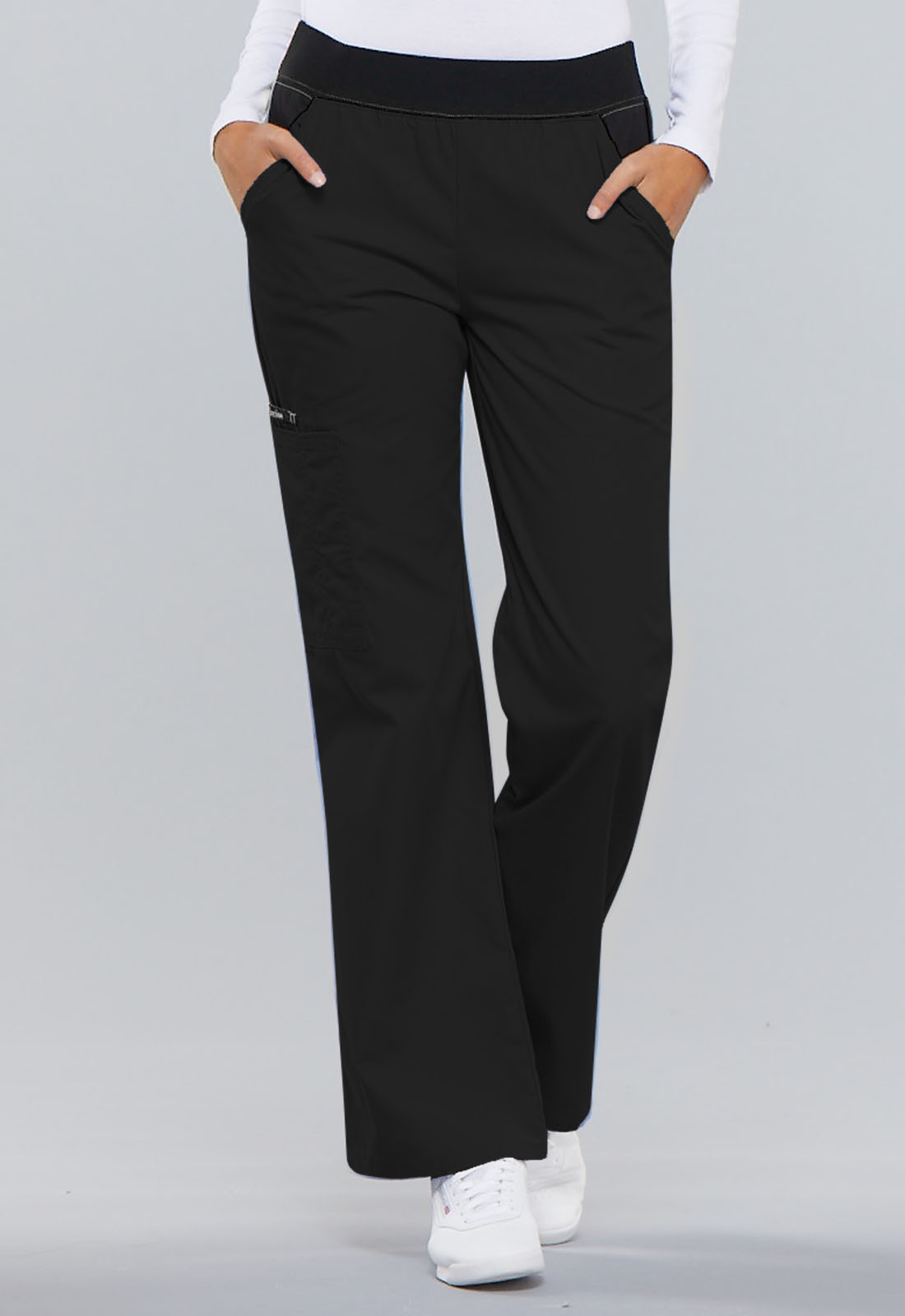0c8f4550a4e Flexibles Mid Rise Knit Waist Pull-On Pant in Black 1031-BLKB from ...