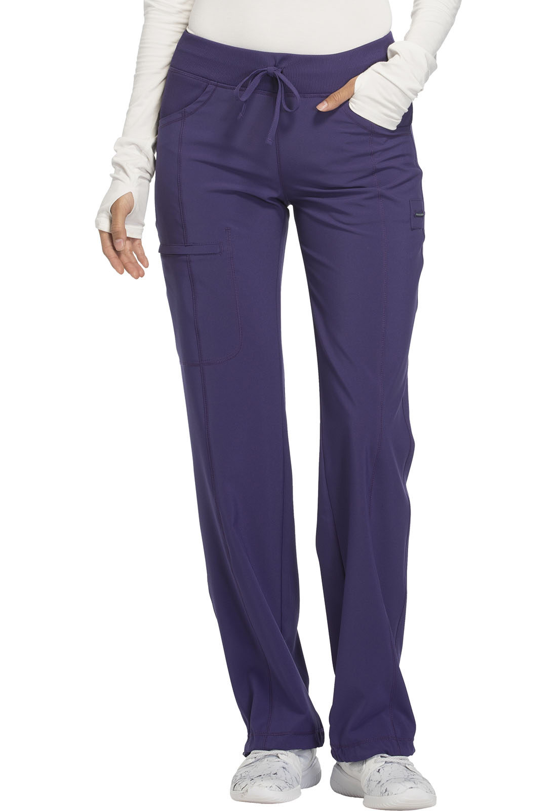 be48108bdad Infinity Low Rise Straight Leg Drawstring Pant in Grape 1123A-GRP ...