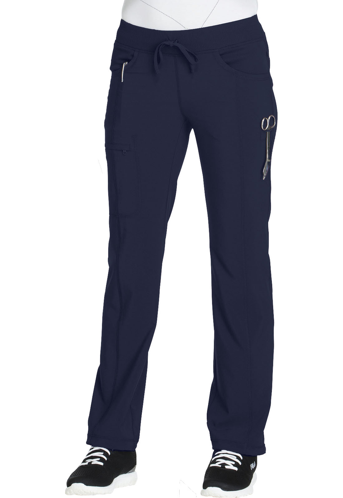 1af6115fb05 Infinity Low Rise Straight Leg Drawstring Pant in Navy 1123A-NYPS ...