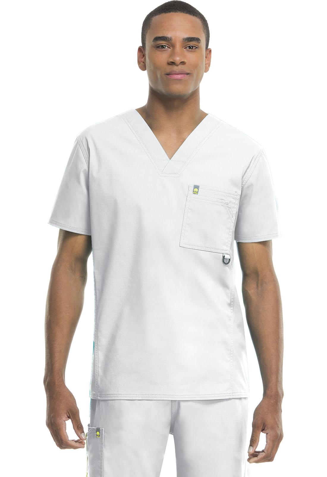 cc85d51e969 Bliss Men's V-Neck Top in White 16600A-WHCH from Cherokee Scrubs and ...