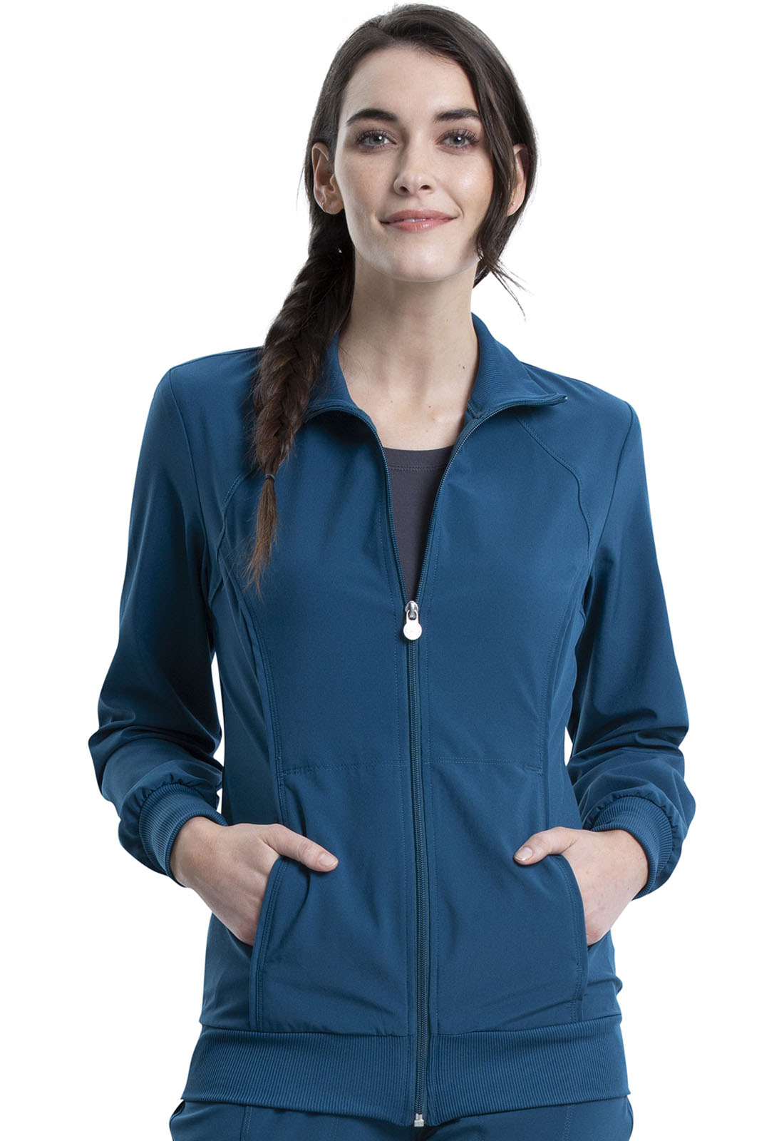 414e3d589f3 Infinity Zip Front Warm-Up Jacket in Caribbean Blue 2391A-CAPS from ...