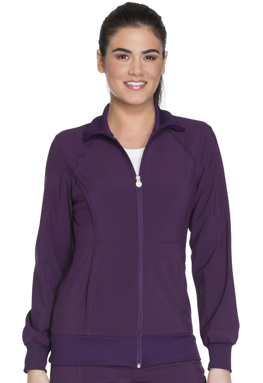 033b21201a3 Infinity Zip Front Warm-Up Jacket in Eggplant 2391A-EGG from ...