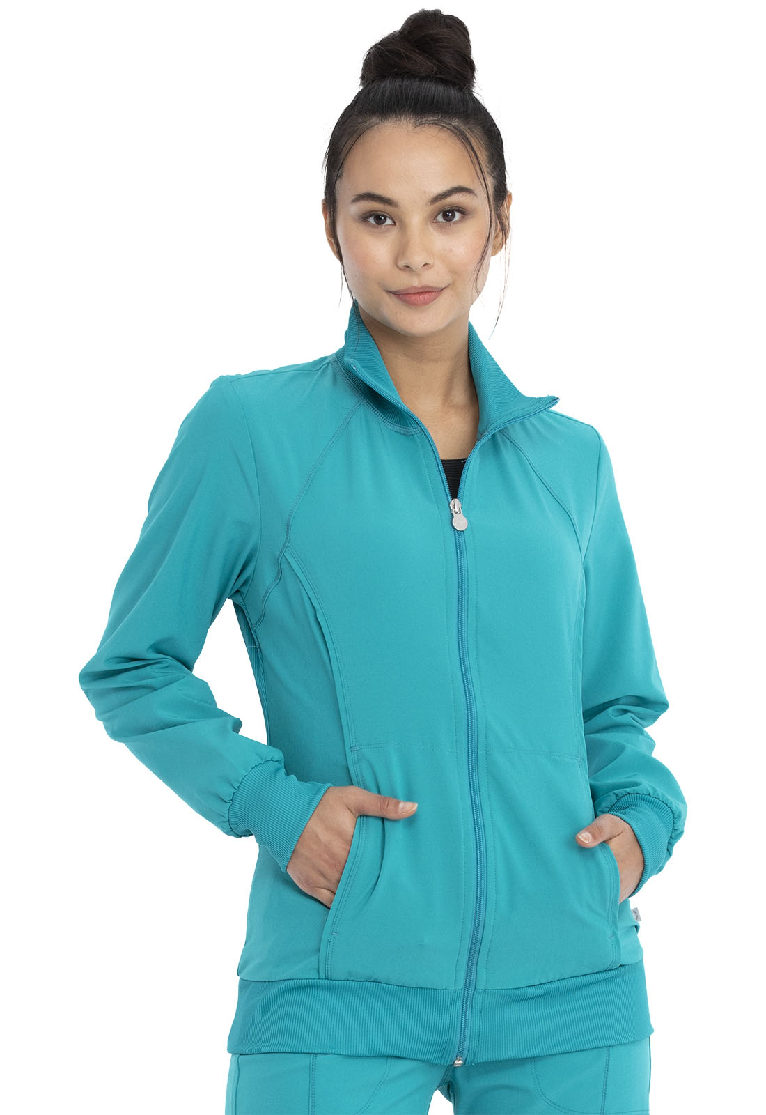 01b07bae251 Infinity Zip Front Warm-Up Jacket in Teal Blue 2391A-TLPS from ...