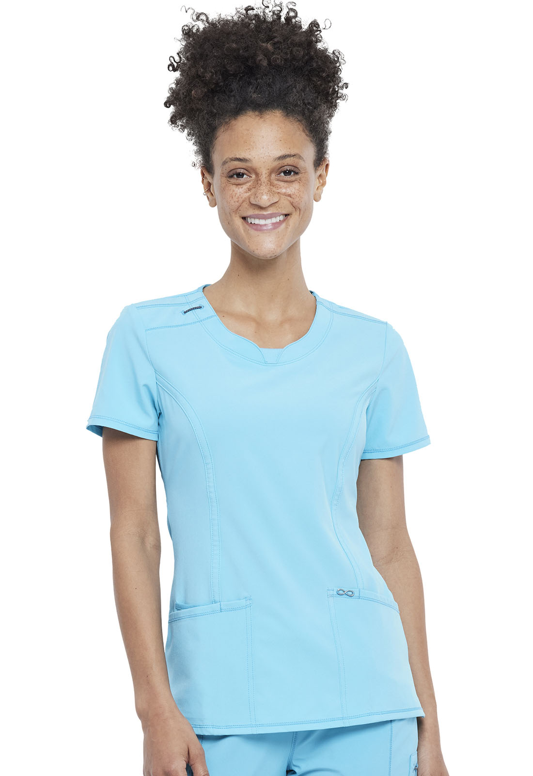 d2dfbb17da5 Infinity Round Neck Top in Turquoise 2624A-TRQ from Castle Uniforms