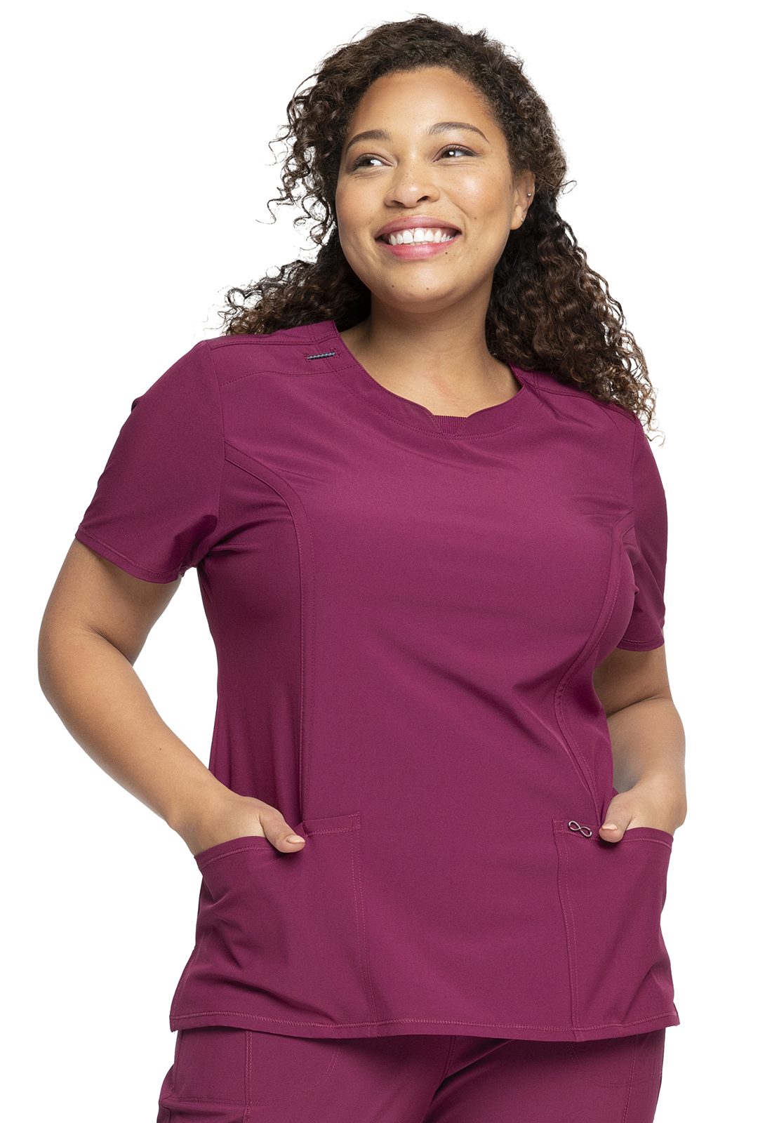 e8a5de88add Infinity Round Neck Top in Wine 2624A-WNPS from Cherokee Scrubs at ...