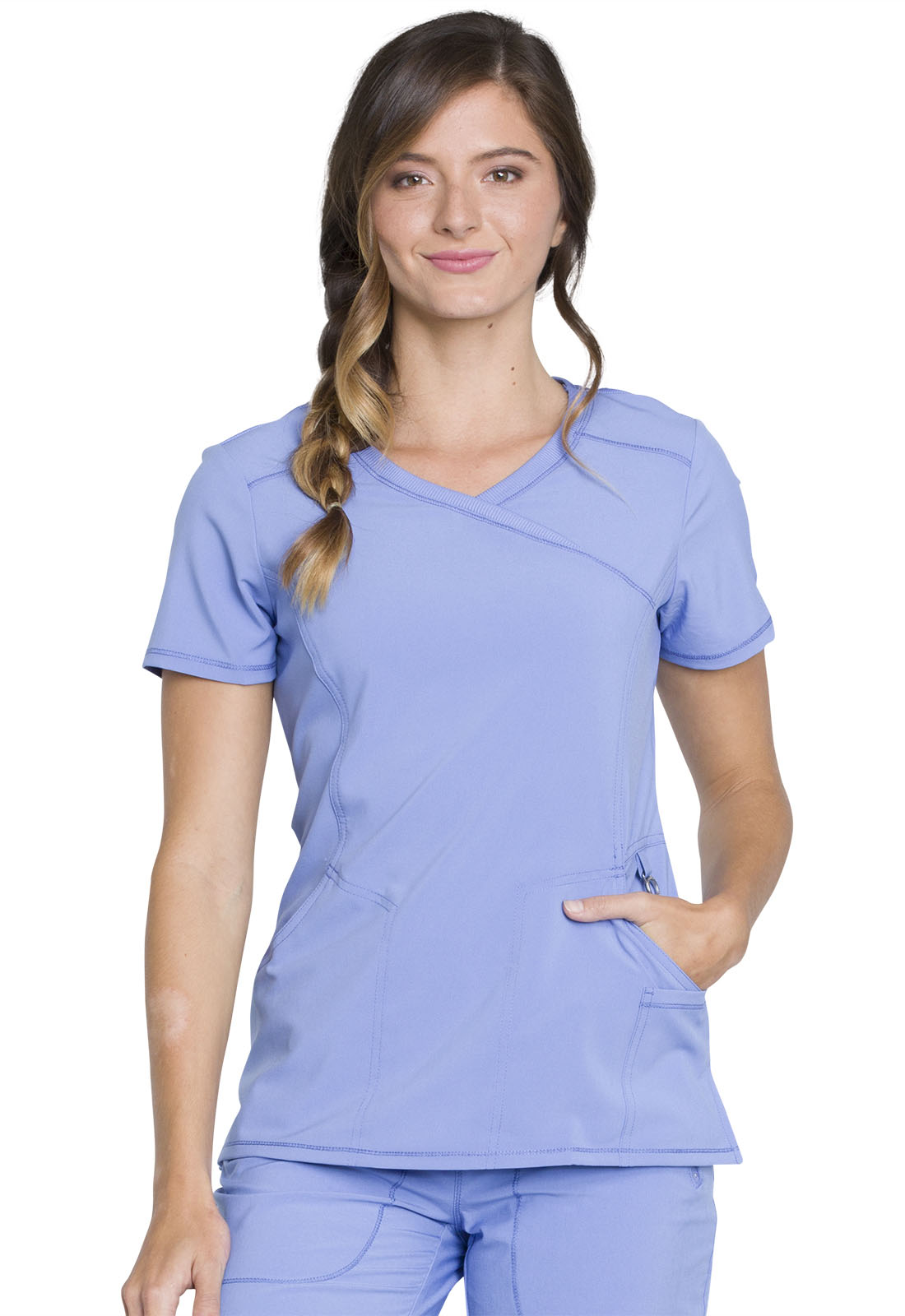 682ba73f8a6 Infinity Mock Wrap Top in Ciel 2625A-CIPS from All About Uniforms ...