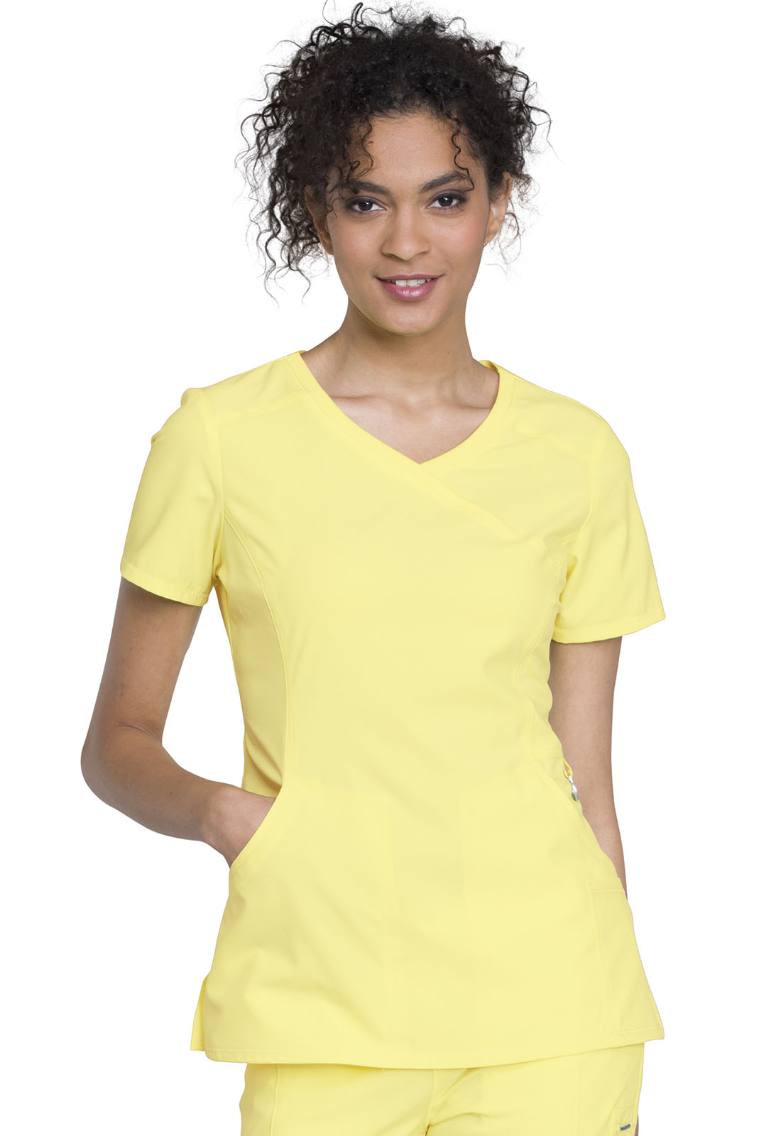 1b475747123 Infinity Mock Wrap Top in Lovely Lemon 2625A-LOMO from Cherokee ...