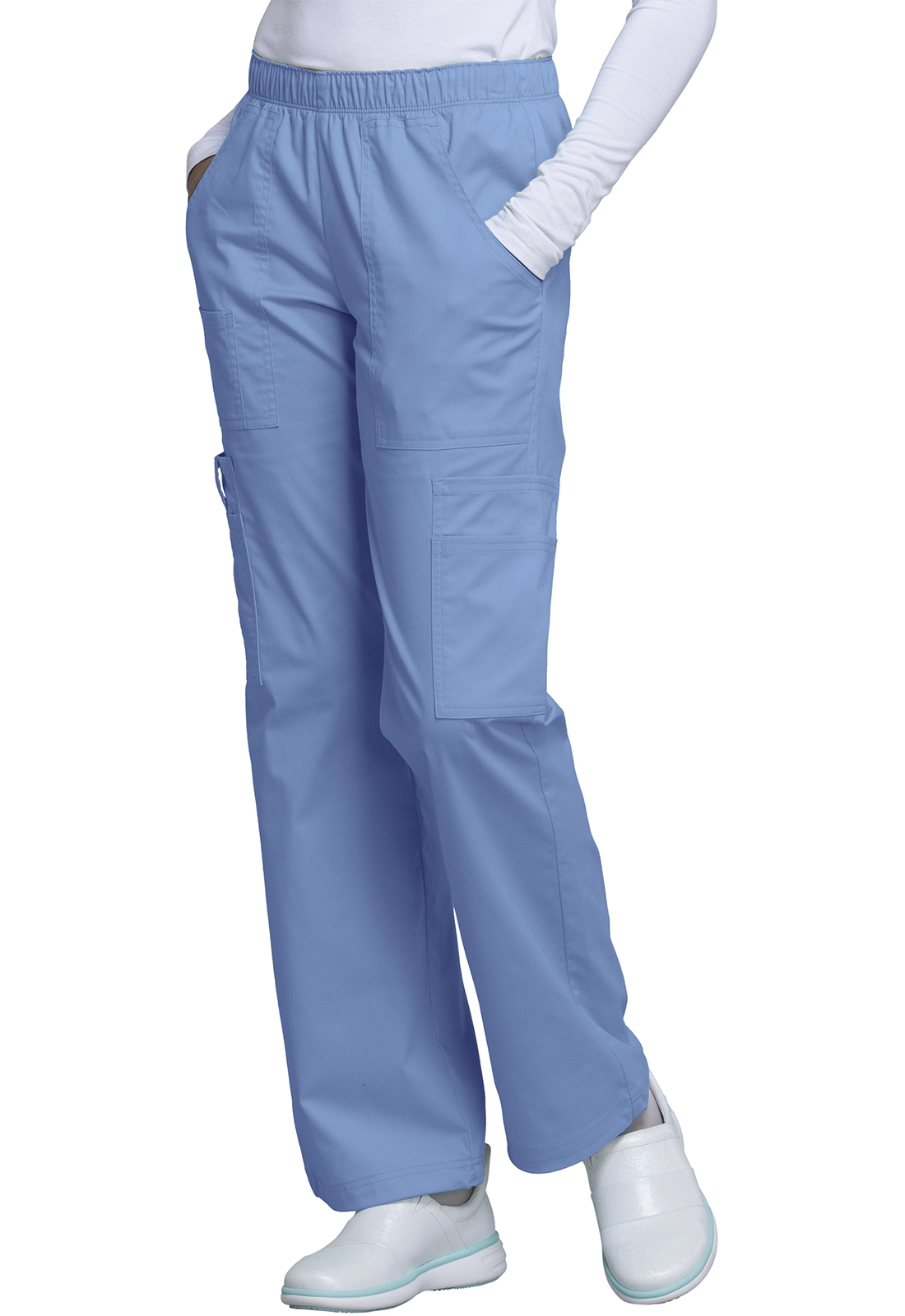 357c628f1c4 WW Core Stretch Mid Rise Pull-On Pant Cargo Pant in Ciel 4005-CIEW ...