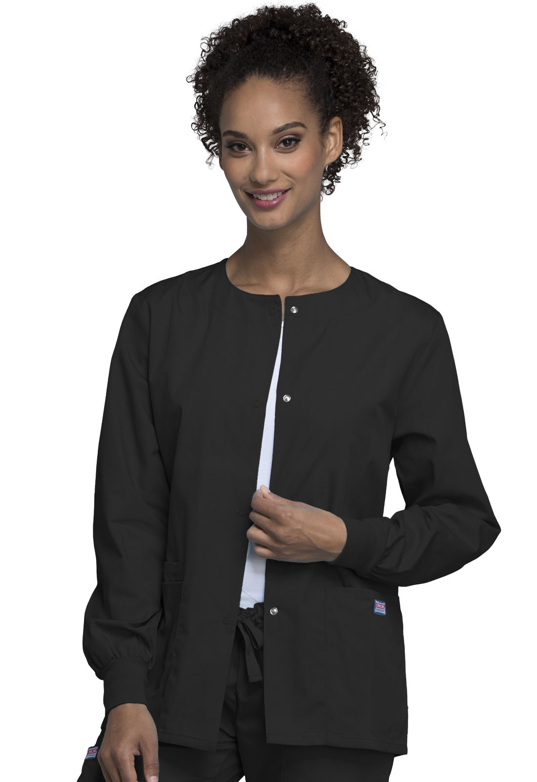 e7d90988ff4 WW Originals Snap Front Warm-Up Jacket in Black 4350-BLKW from All ...