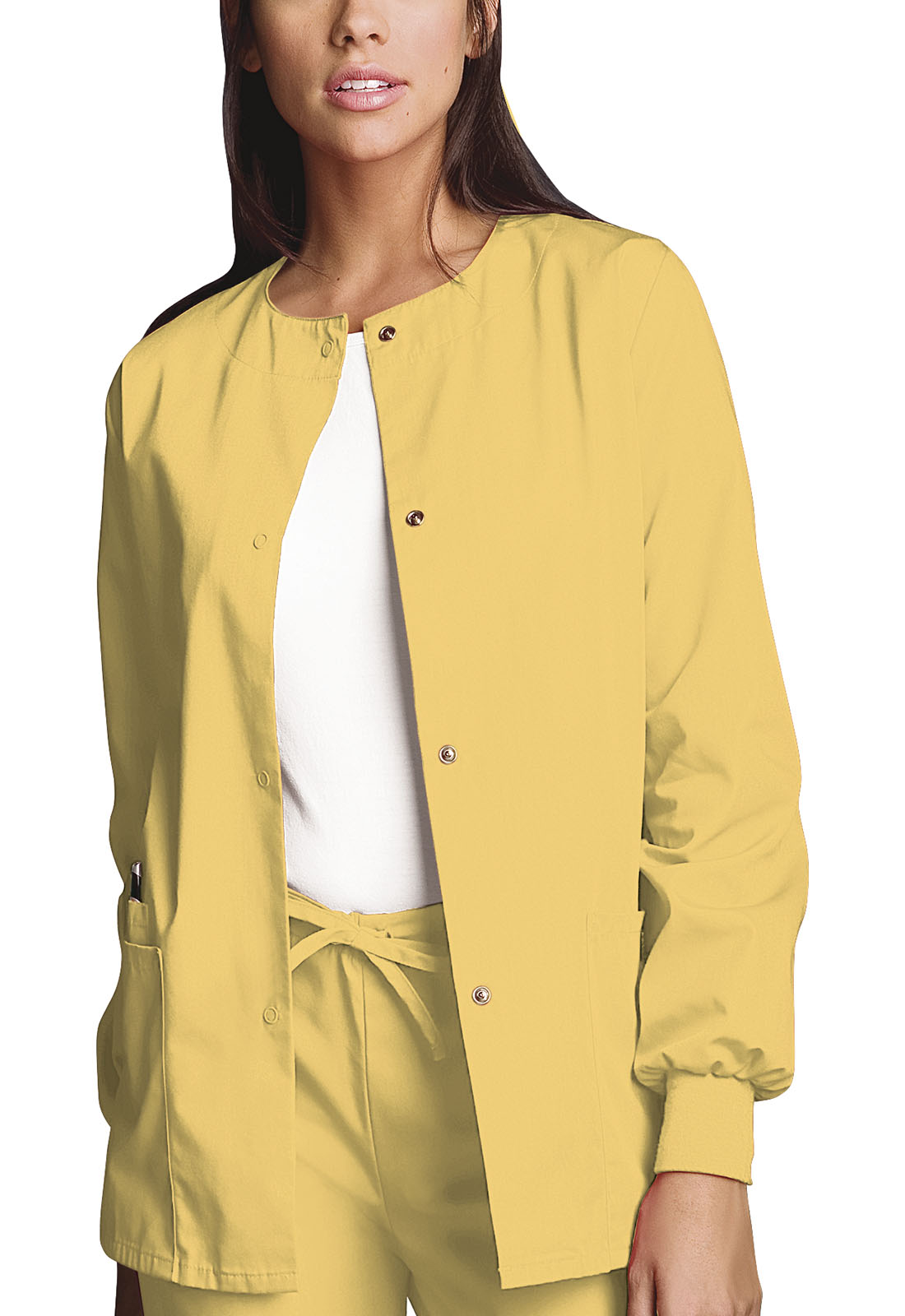 Cherokee Workwear Originals Snap Front WarmUp Jacket 4350 WRDS Words of Love