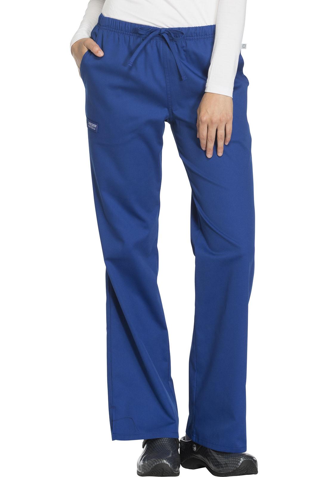 c99392819d5 WW Flex Mid Rise Moderate Flare Drawstring Pant in Galaxy Blue ...