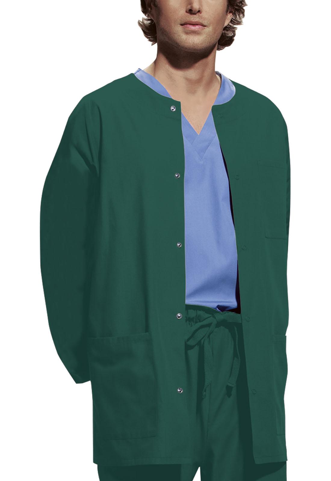 bc814cc4bd1 Cherokee Workwear. WW Originals Men's Snap Front Warm-Up Jacket in Hunter