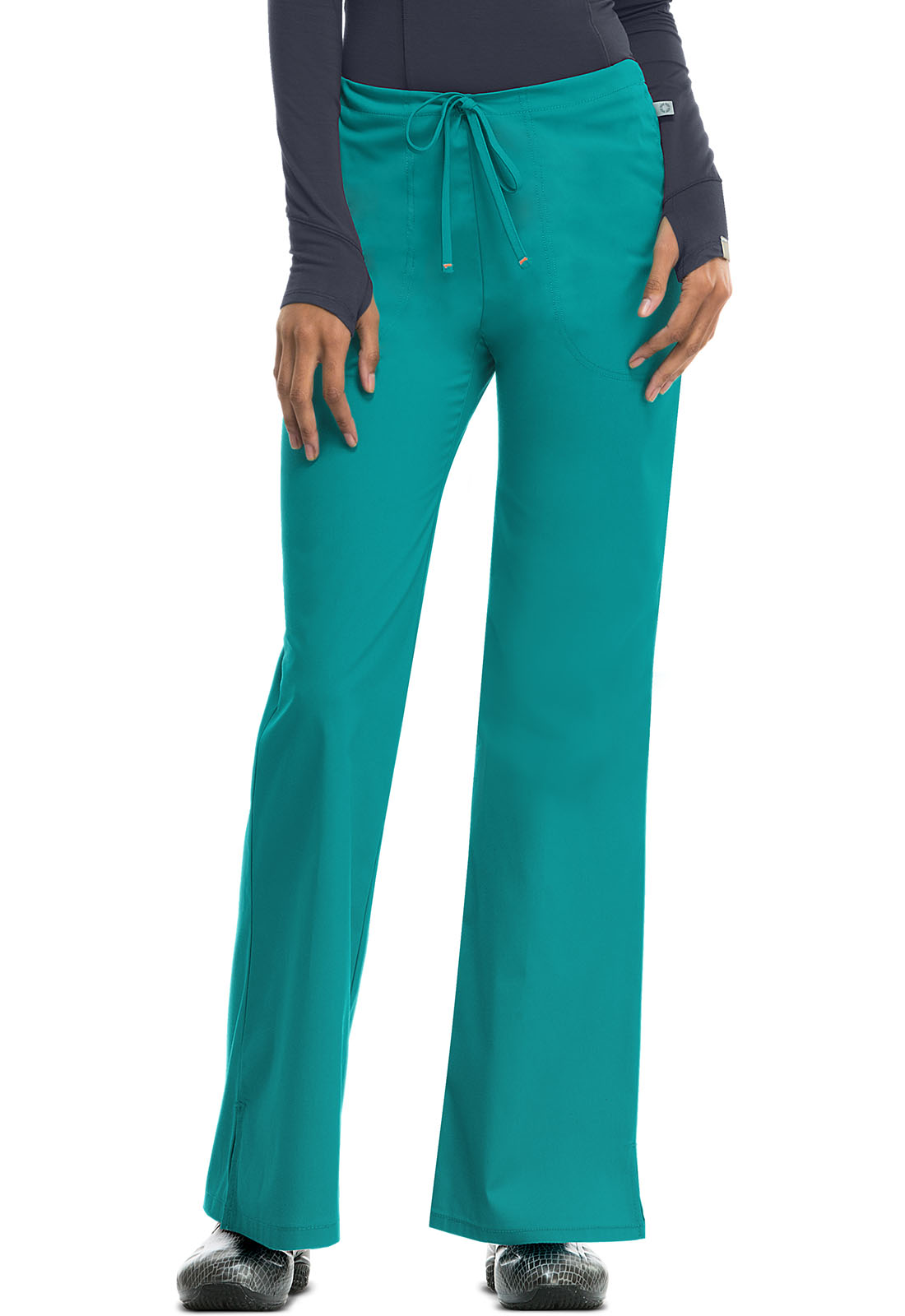White Code Happy Scrubs Mid Rise Drawstring Pants 46002A WHCH Antimicrobial