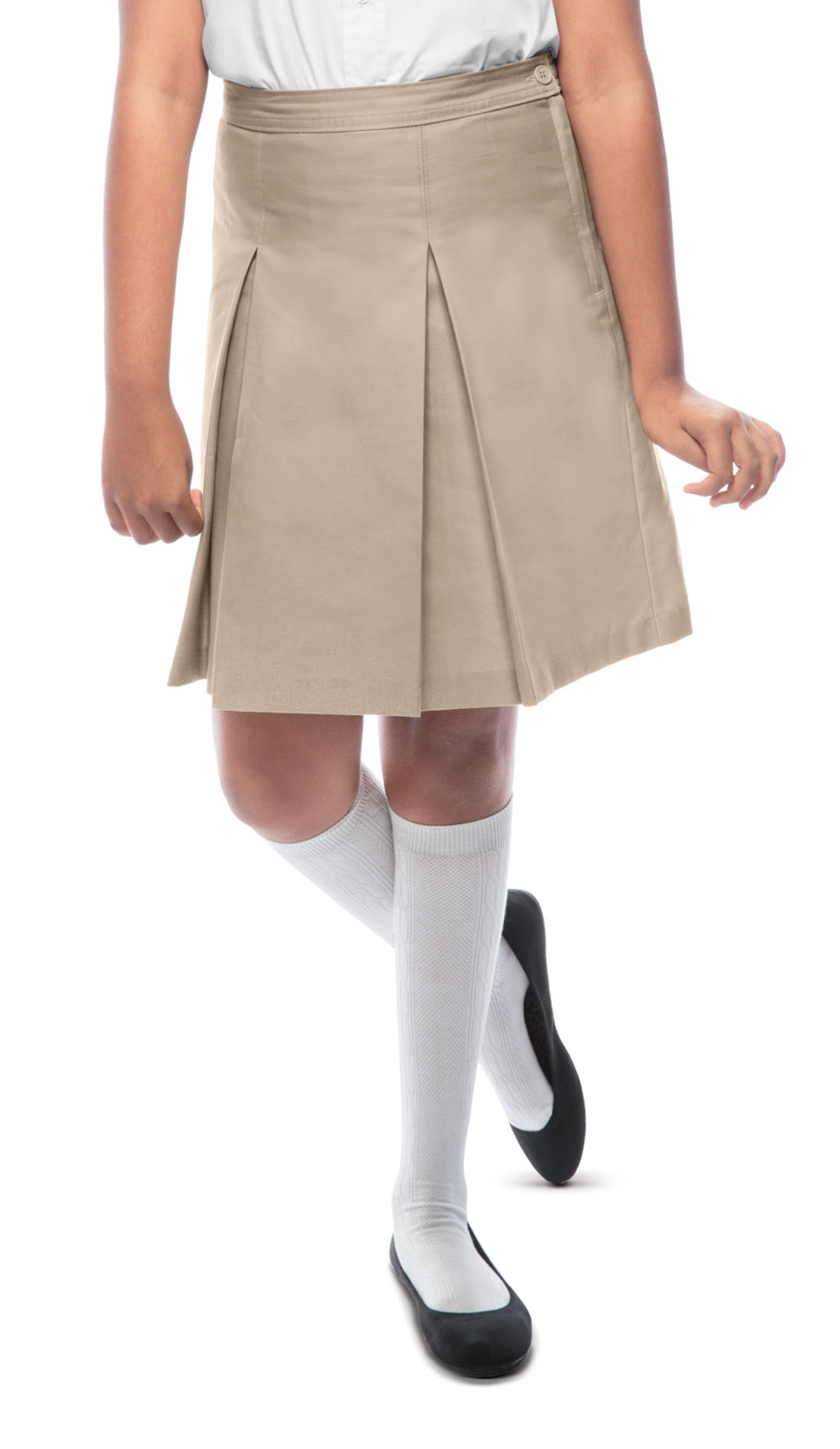 c60547dde3a4ff Classroom Girls Kick Pleat Skirt in Khaki 55862-KAK from Uniform ...