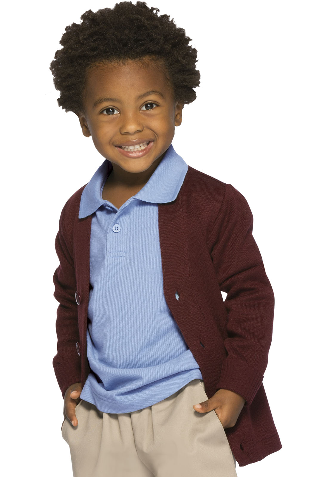 dec12950 Classroom Youth Unisex Cardigan Sweater in Burgundy 56432-BUR from Image  Experts