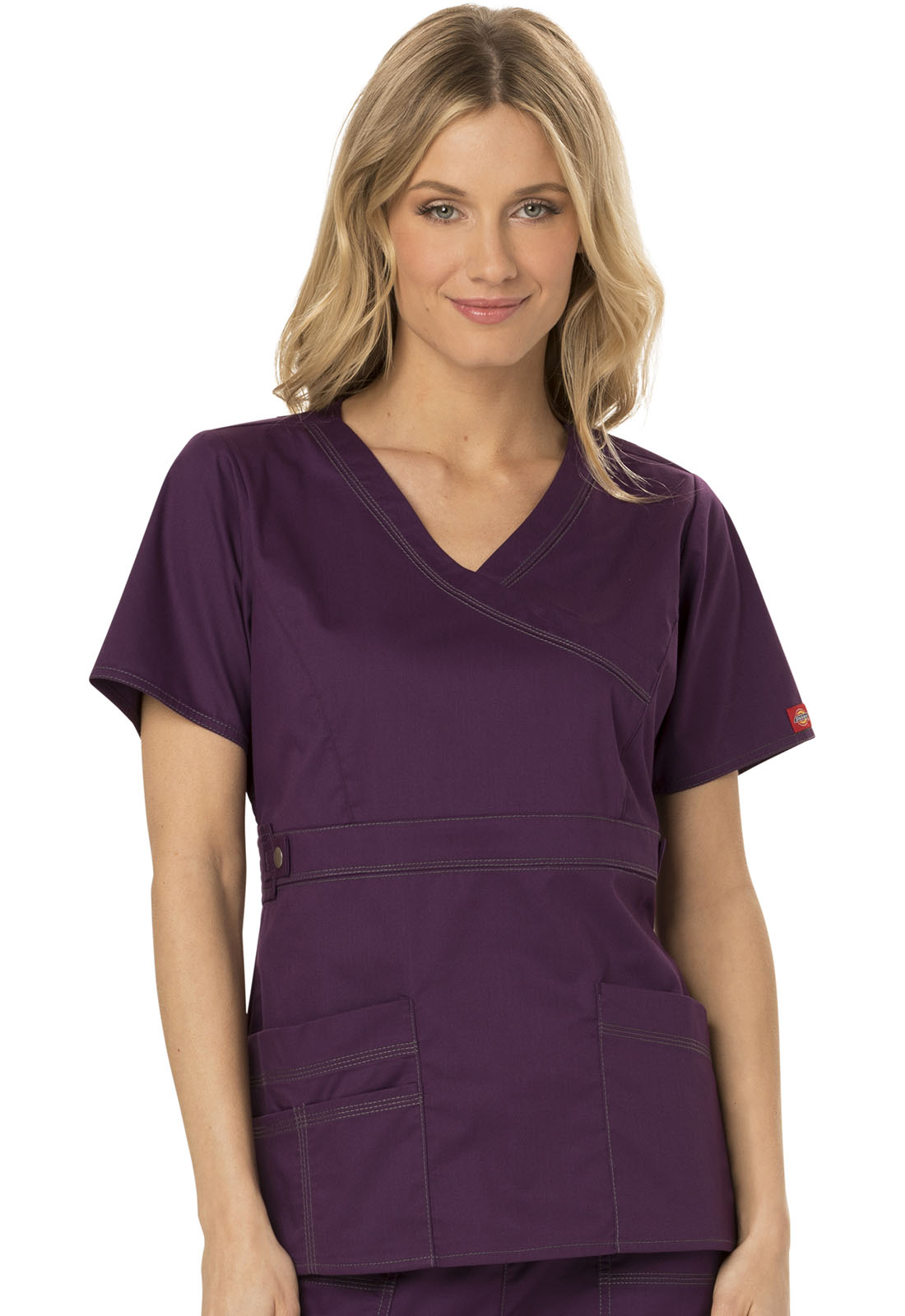 fe7c520f44e Gen Flex Mock Wrap Top in Eggplant 817355-EGPZ from The Nurses ...