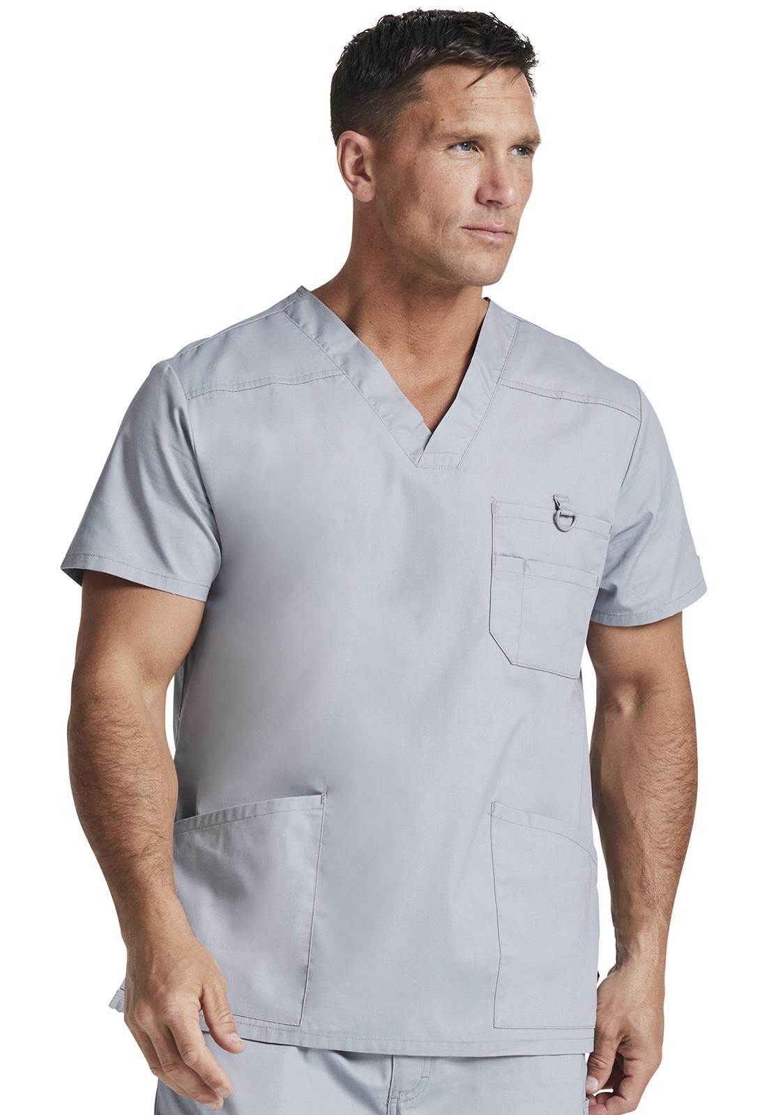 da24ac9b70c2e9 Dickies EDS Signature Men's V-Neck Top in Grey from Dickies Medical