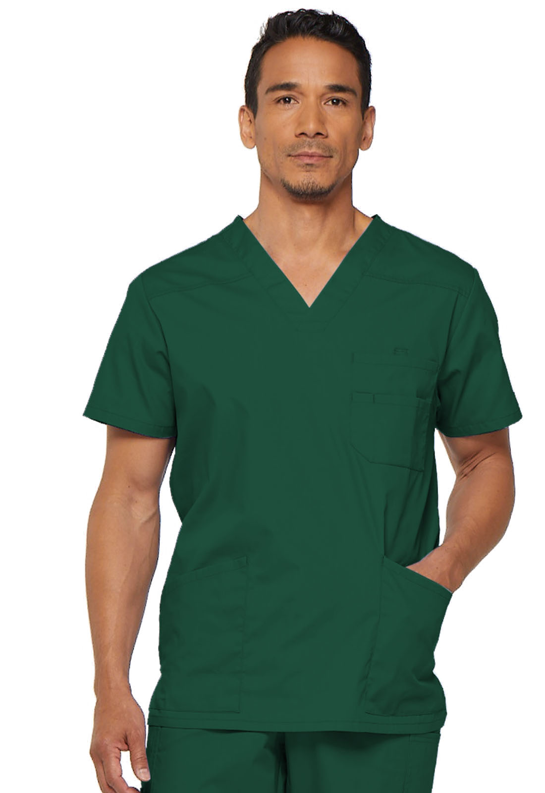 5ff6780daee EDS Signature Men's V-Neck Top in Hunter 81906-HUWZ from Med Plus ...