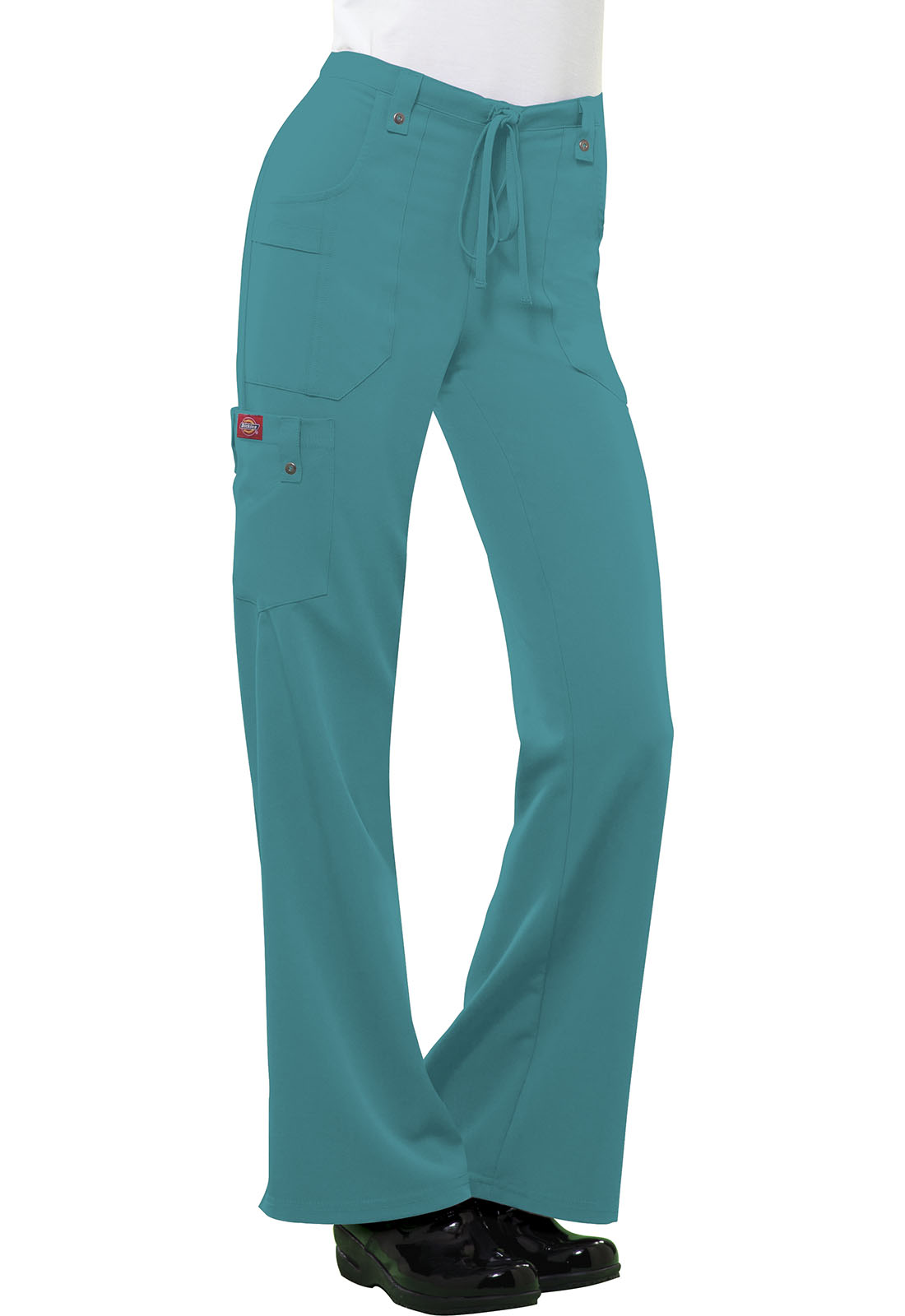 d584f1140cd Xtreme Stretch Mid Rise Drawstring Cargo Pant in Teal 82011-DTLZ ...