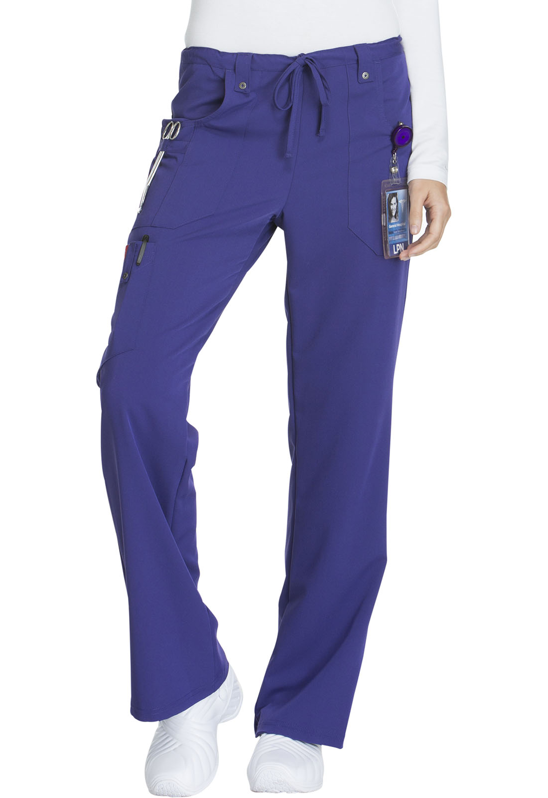 4dcf0c768a6 Xtreme Stretch Mid Rise Drawstring Cargo Pant in Grape 82011-GPWZ ...