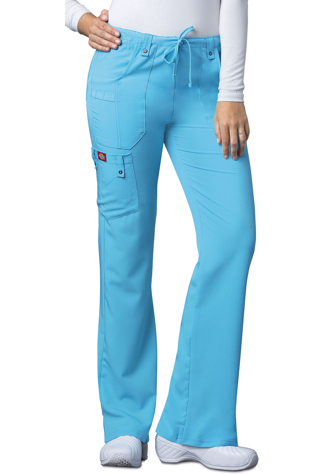 07feb3dd634 Xtreme Stretch Mid Rise Drawstring Cargo Pant in Icy Turquoise 82011 ...