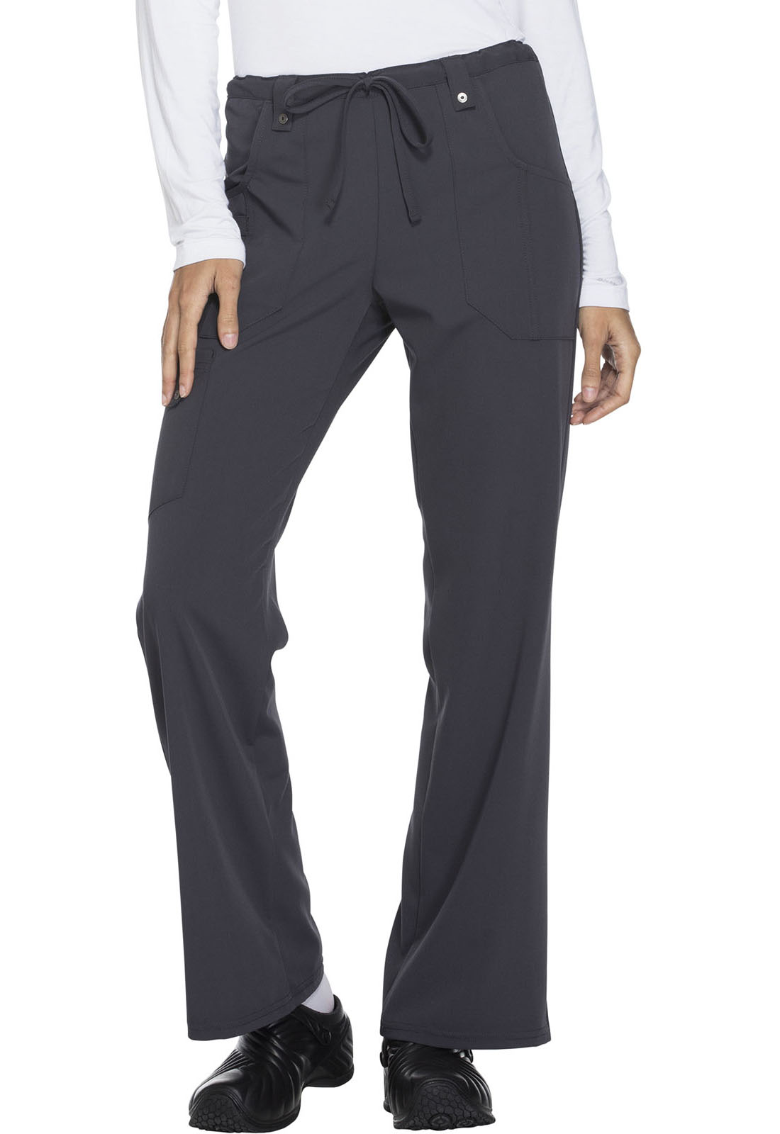 8e80298128e Xtreme Stretch Mid Rise Drawstring Cargo Pant in Lt. Pewter 82011 ...