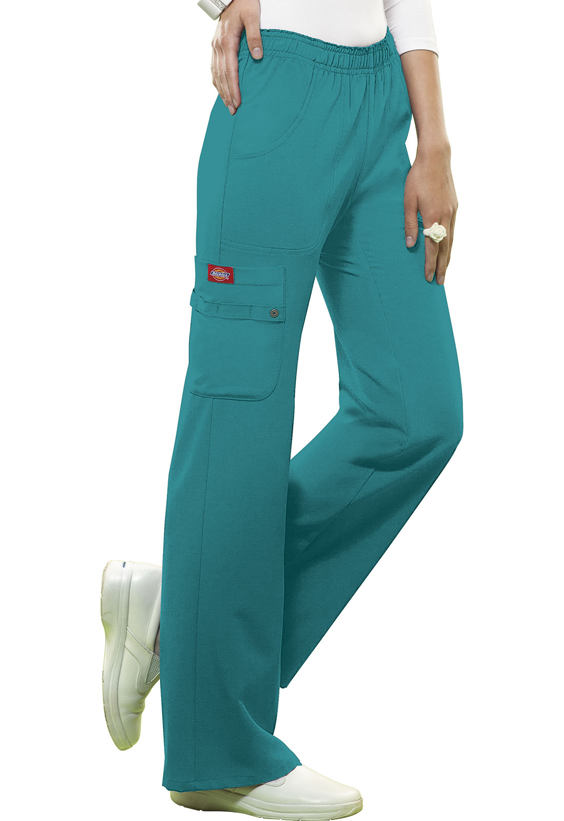 e10a74b61a3 Xtreme Stretch Mid Rise Pull-On Cargo Pant in Teal 82012-DTLZ from ...