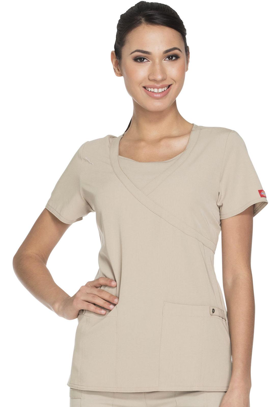 9ffad094691 Dickies Xtreme Stretch Mock Wrap Top 82814-KHIZ from Uniform Works