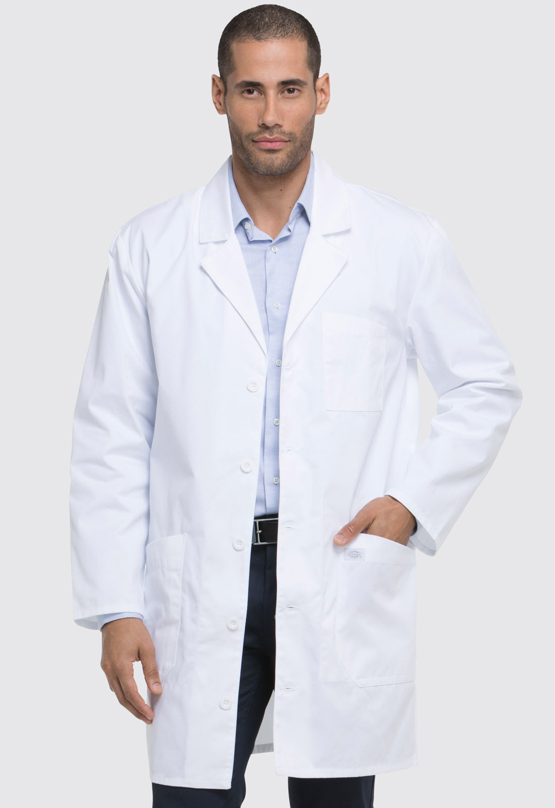 "Dickies Professional Whites 37"" Unisex Lab Coat in White ..."