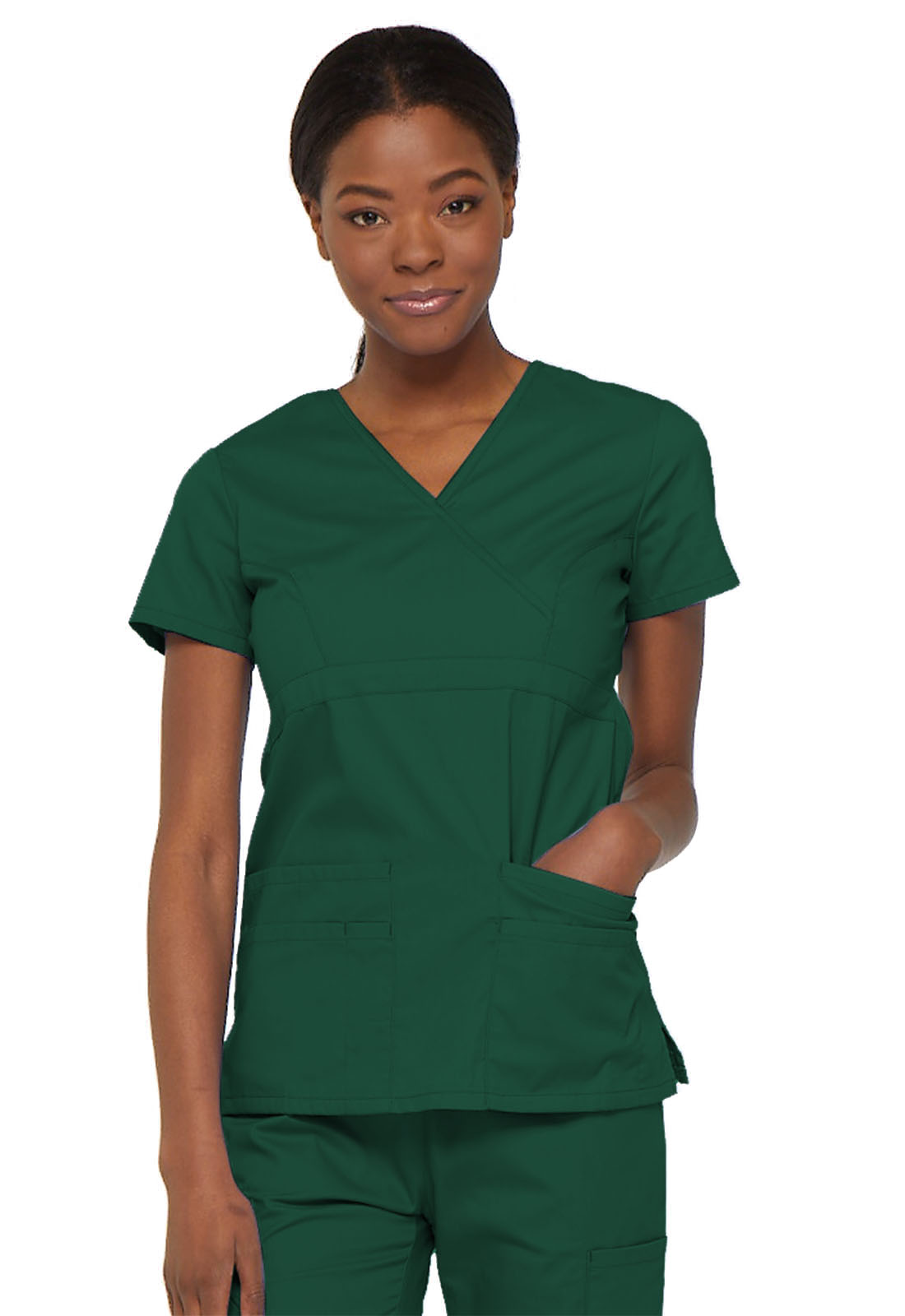 9e2a382a127 Dickies EDS Signature Mock Wrap Top in Hunter from Dickies Medical
