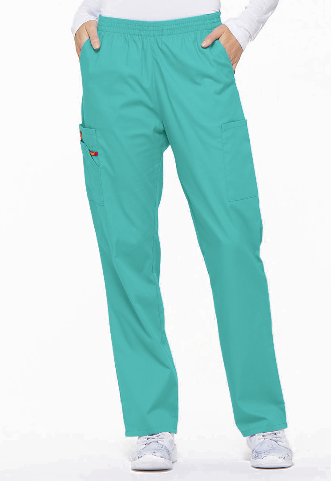 8d13575009f Dickies EDS Signature Women's Natural Rise Tapered Leg Pull-On Pant Blue