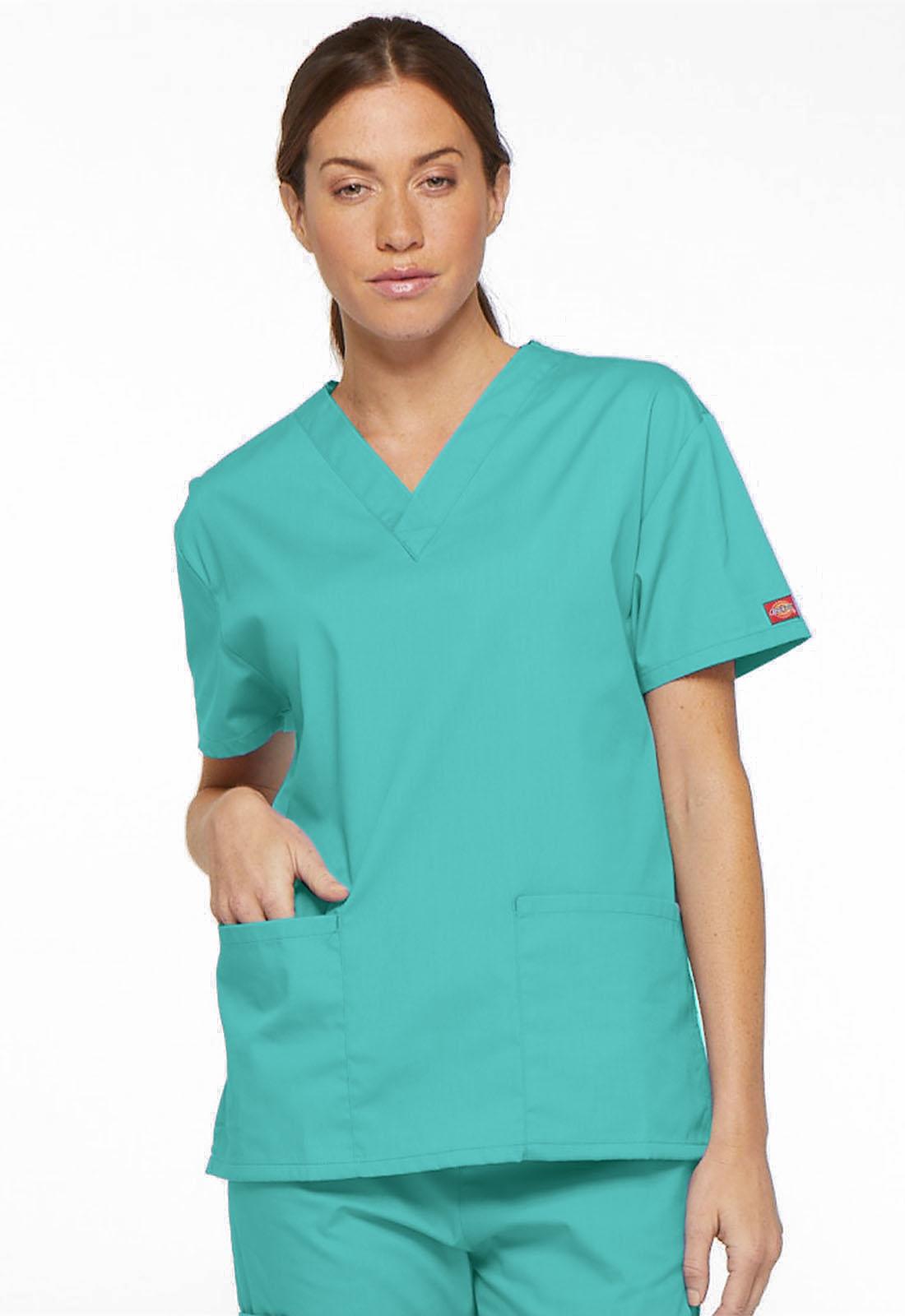 6dde24f14a6 Dickies EDS Signature V-Neck Top 86706-LGON from James Medical Uniforms
