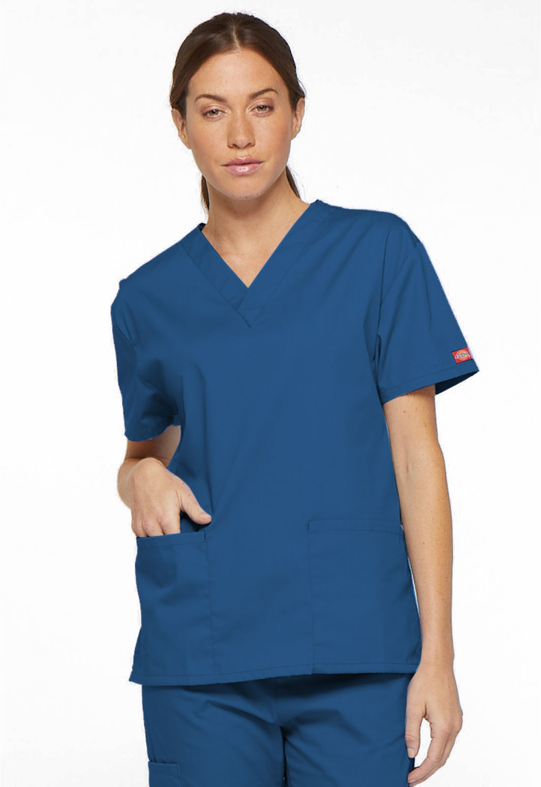 9f154168326 Dickies EDS Signature V-Neck Top in Royal from Dickies Medical