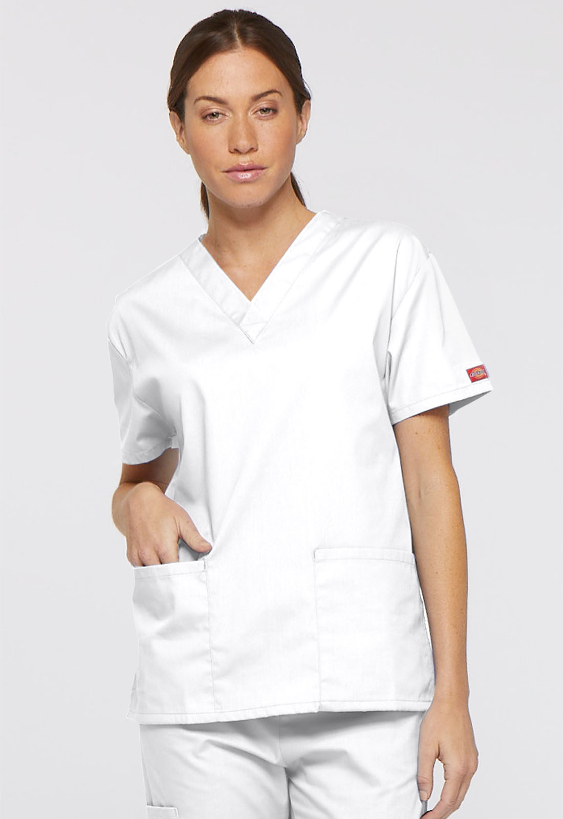 923c4dc5ef2 Dickies EDS Signature V-Neck Top in White from Dickies Medical