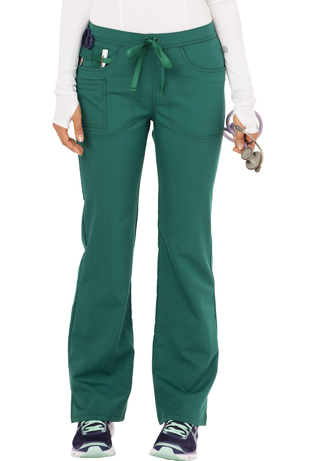 2b82379b73b Code Happy Cloud Nine Women's Mid Rise Moderate Flare Leg Pant Green