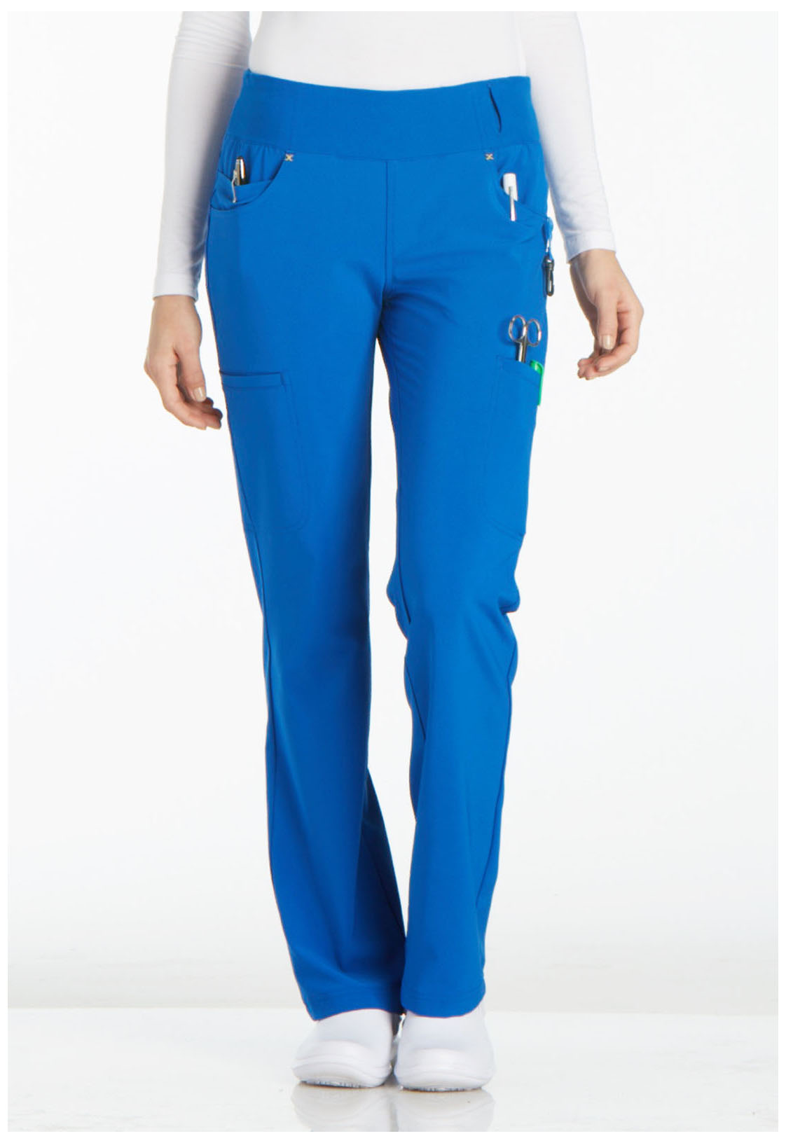 5e99fd3137d iFlex Mid Rise Straight Leg Pull-on Pant in Royal CK002-ROY from ...