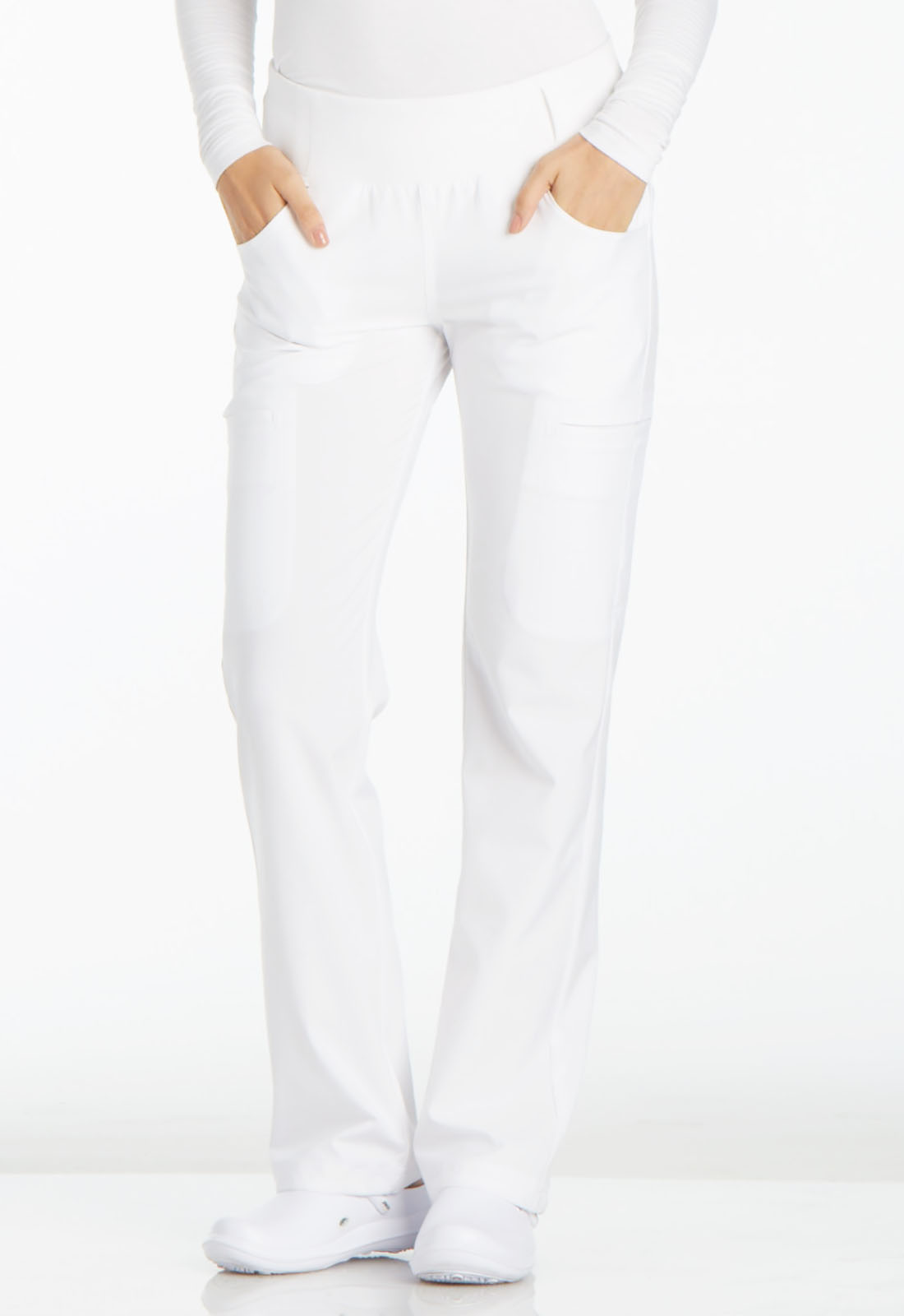 54cab2f365b iFlex Mid Rise Straight Leg Pull-on Pant in White CK002-WHT from ...