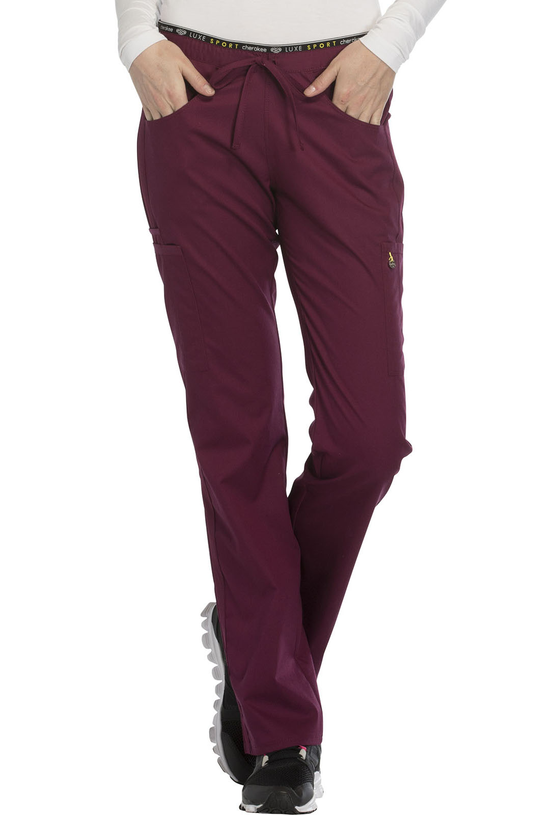 f4ced356d1e Luxe Sport Mid Rise Straight Leg Pull-on Pant in Wine CK003P-WINV ...