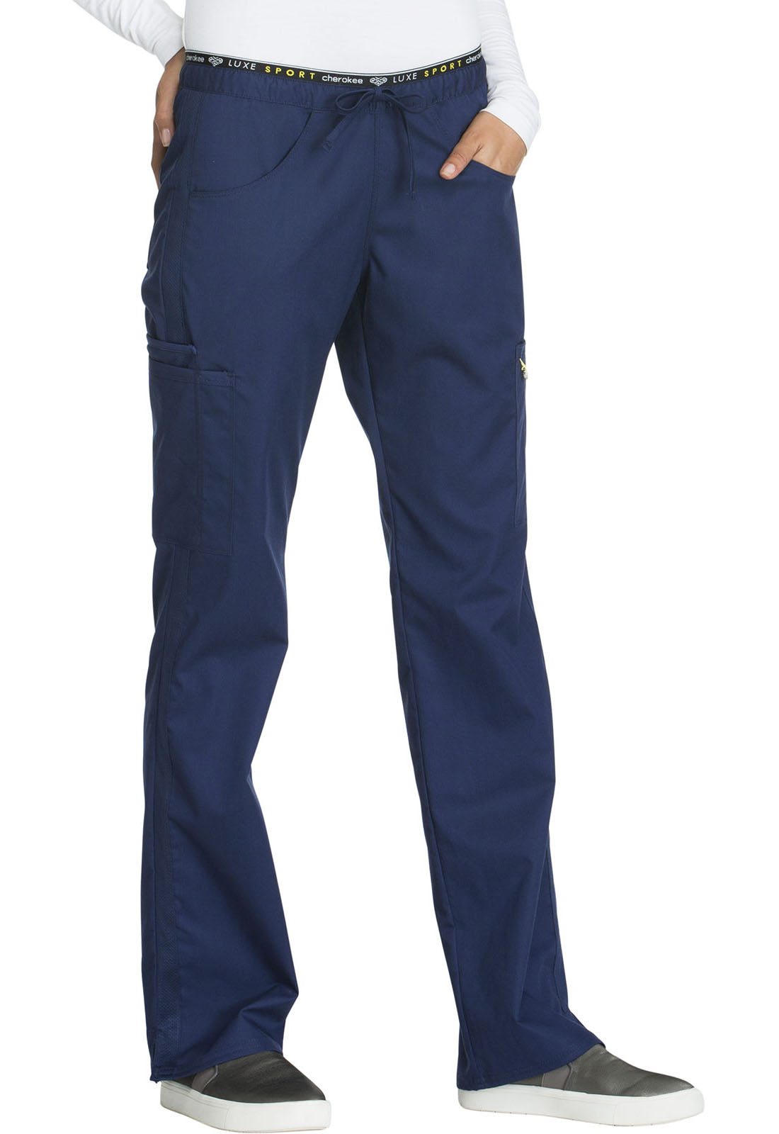69c9febb950 Luxe Sport Mid Rise Straight Leg Pull-on Pant in Navy CK003T-NAVV ...