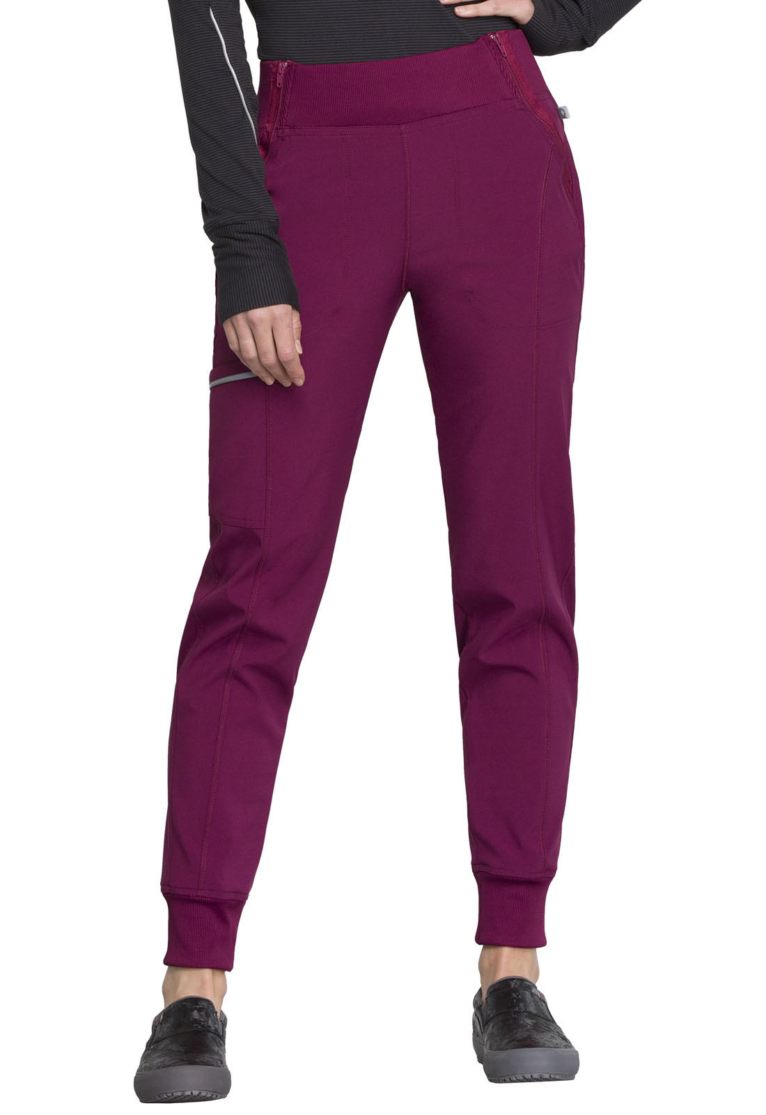 4d1d5022e4f Infinity Mid Rise Tapered Leg Jogger Pant in Wine CK110A-WNPS from ...