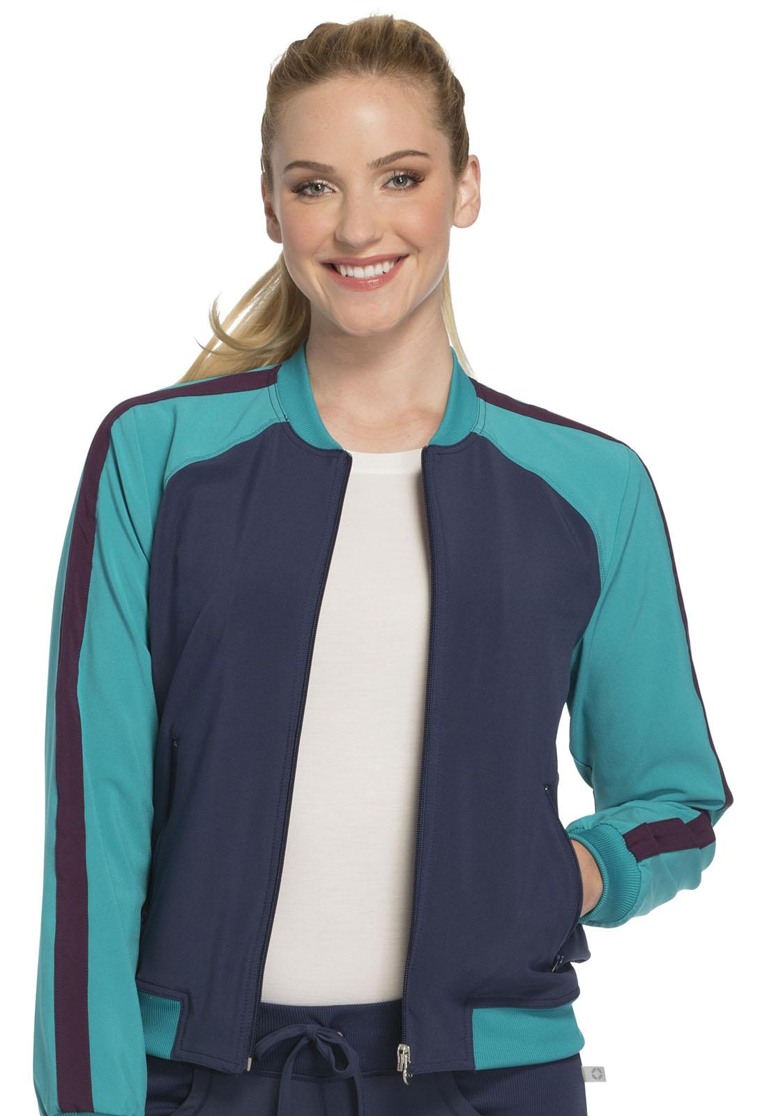 Infinity by Cherokee Women's Zip Front Warm-up Jacket Blue ...
