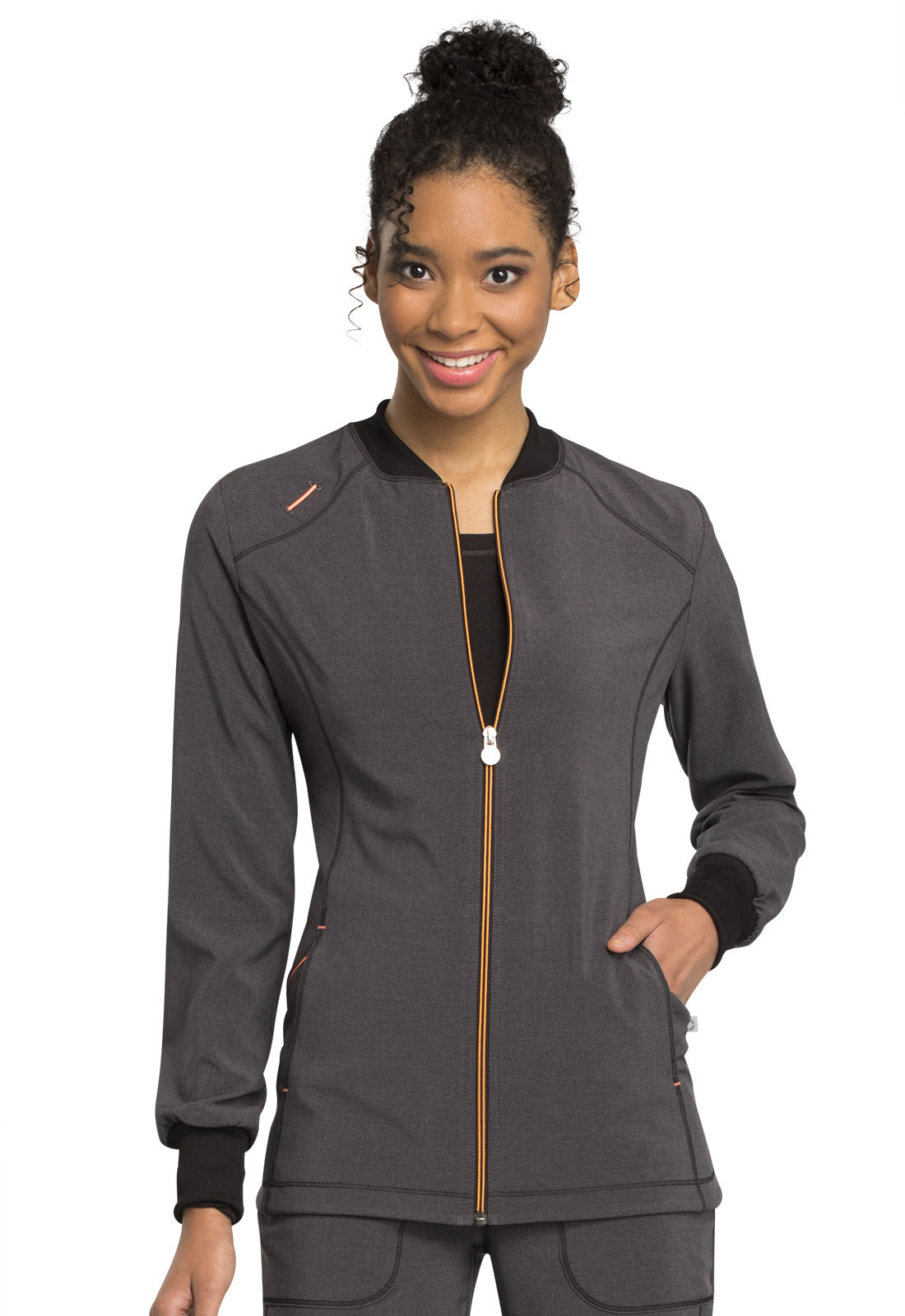 d2bcb204e87 Infinity Zip Front Warm-up in Heather Charcoal CK380A-HTCH from ...