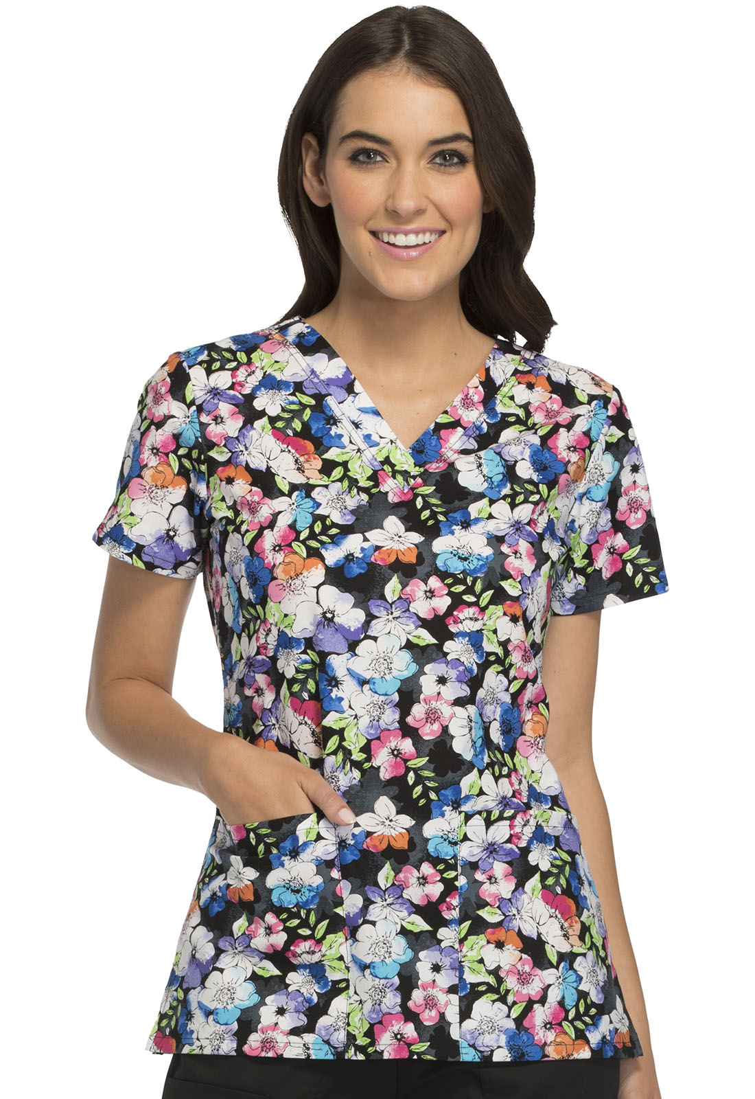 c65782d090f Cherokee Prints V-Neck Top CK616-SFLL from Uniforms for America