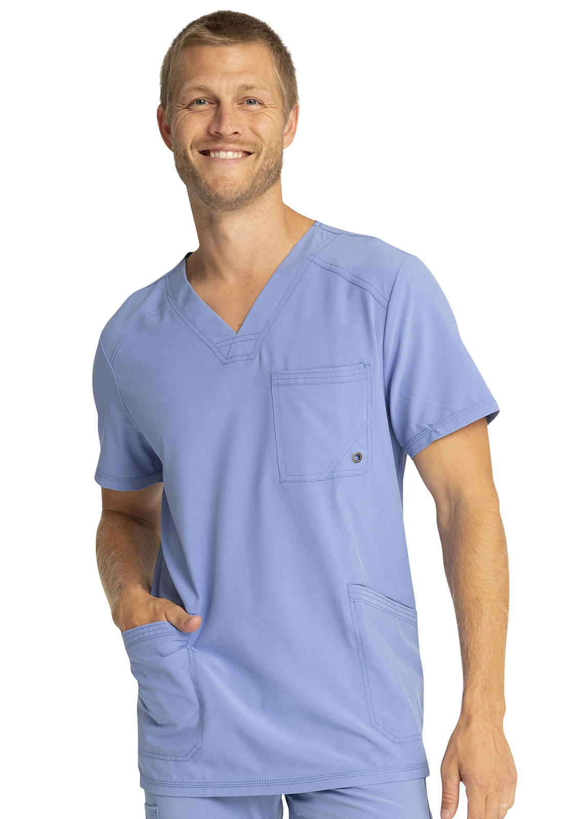 dec84bbcbb2 Infinity by Cherokee Men's V-Neck Top CK900A-CIPS from Love Your Scrubs