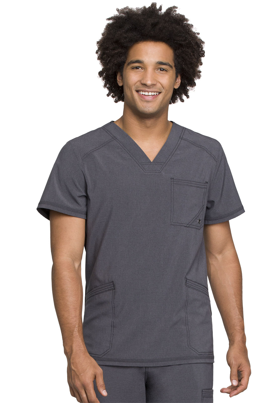 af2148abed6 Infinity Men's V-Neck Top in Heather Charcoal CK900A-HTCH from ...