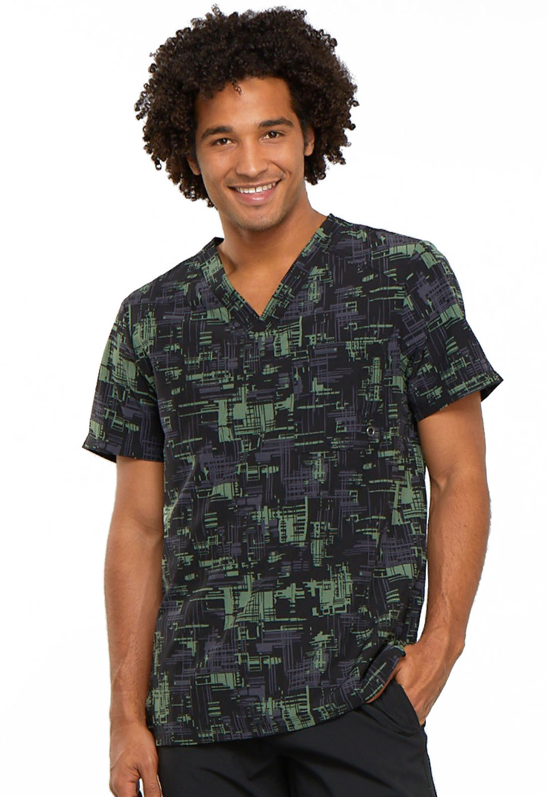 a52832693cd Infinity by Cherokee Men's V-Neck Top CK902-CRCY from Love Your Scrubs