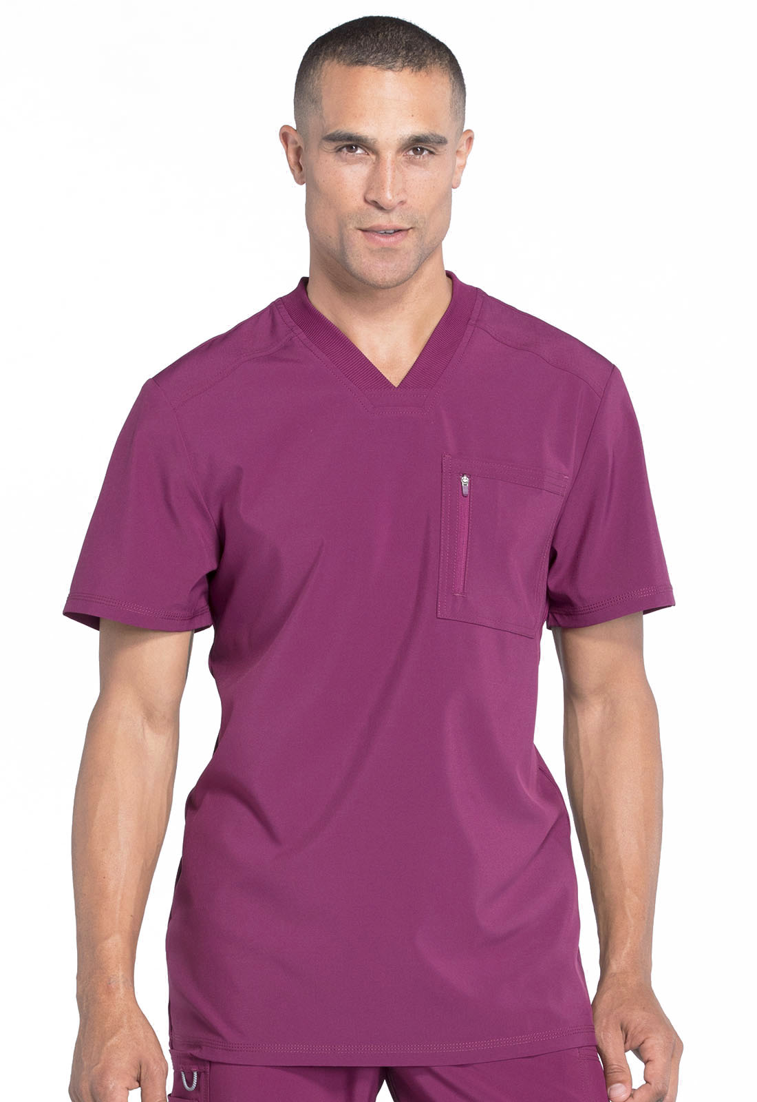 5a0b1e4d3e5 Infinity Men's V-Neck Top in Wine CK910A-WNPS from Cherokee Scrubs ...