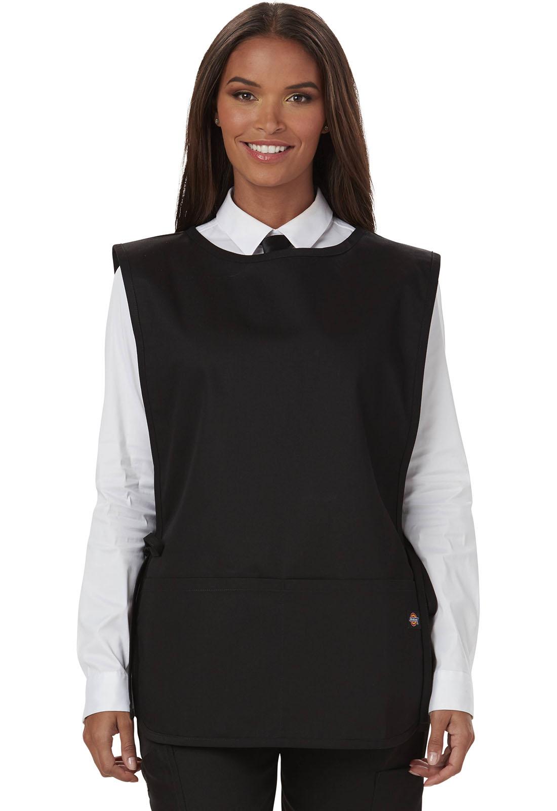 White apron doctors - Dickies Chef Unisex Cobble Bib Apron With Tie Sides Black