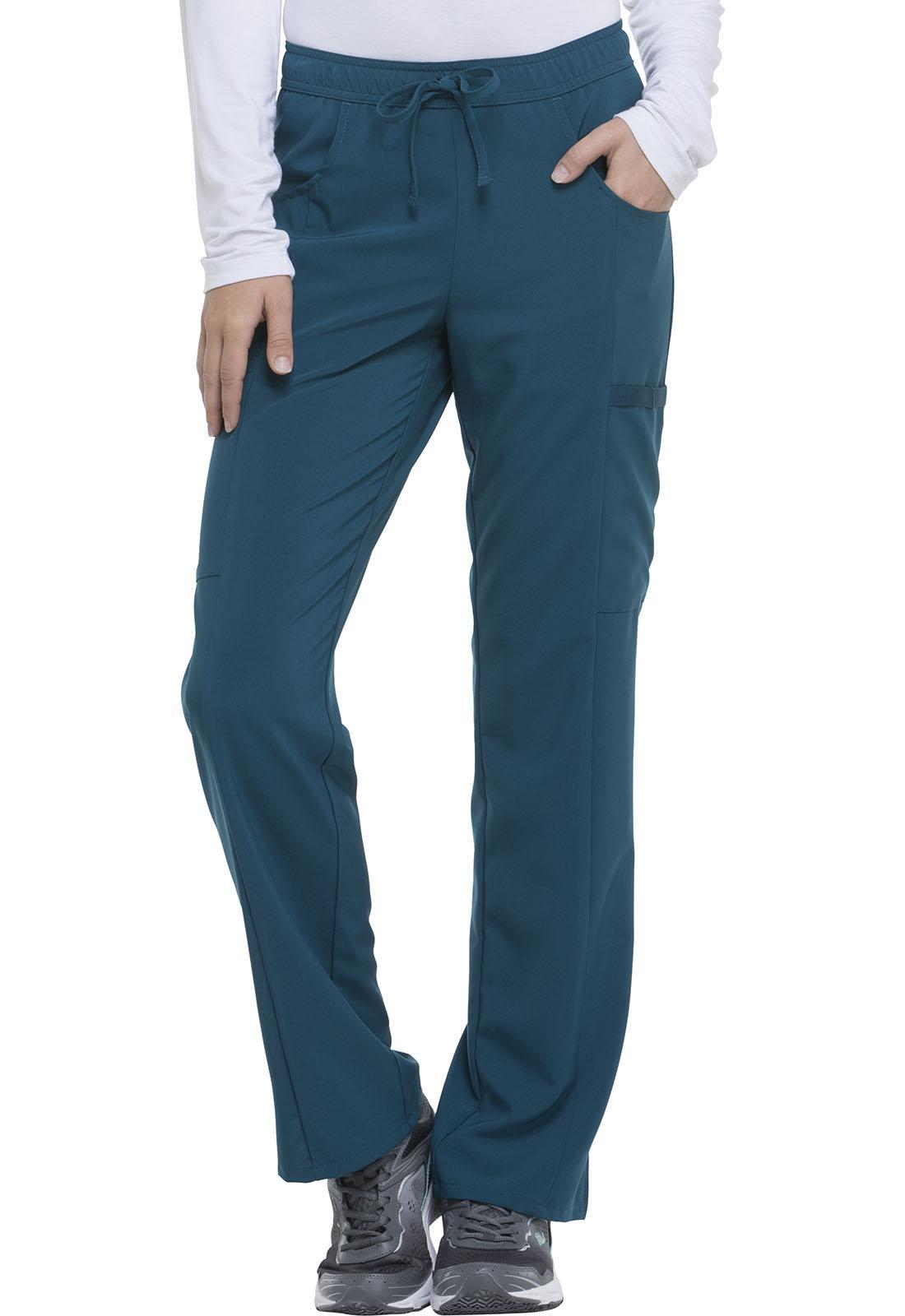 cdd98e1d605 Dickies EDS Essentials Women's Mid Rise Straight Leg Drawstring Pant Blue